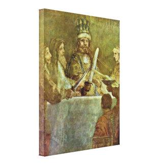 Rembrandt van Rijn - Conspiracy of Batavian Canvas Prints