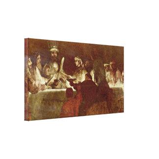 Rembrandt van Rijn - Conspiracy of Batavians Stretched Canvas Prints