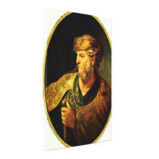 Rembrandt van Rijn - Man in oriental dress Stretched Canvas Print