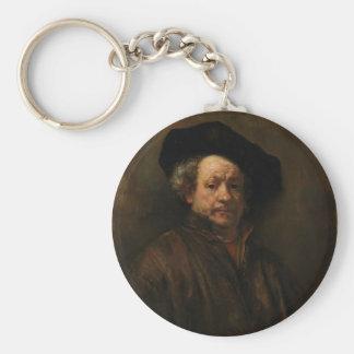 Rembrandt van Rijn's Self Portrait Fine Art Key Ring