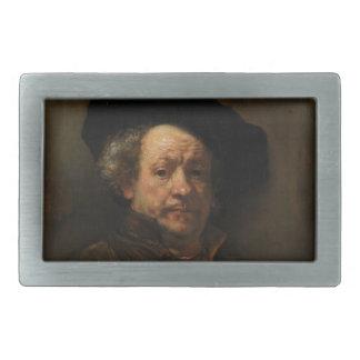 Rembrandt van Rijn's Self Portrait Fine Art Rectangular Belt Buckle