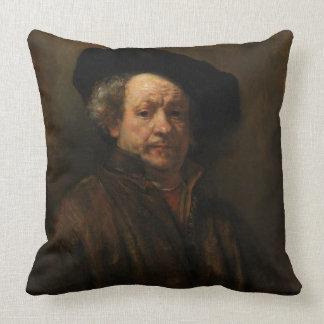 Rembrandt van Rijn's Self Portrait Fine Art Throw Pillow