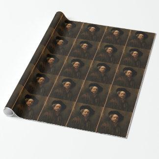 Rembrandt van Rijn's Self Portrait Fine Art Wrapping Paper