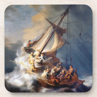 Rembrandts Storm on Sea of Galilee Beverage Coasters