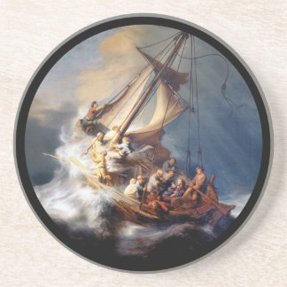 Rembrandts Storm on Sea of Galilee Drink Coaster