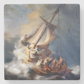 Rembrandts Storm on Sea of Galilee Stone Coaster