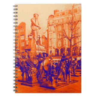 rembrant statue amsterdam digital photo notebook