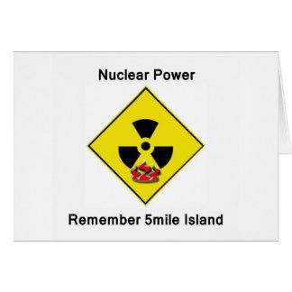 Remember 5mile Island Anti Nuclear Logo Greeting Card