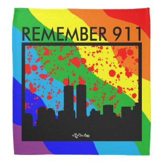 Remember 911 BANDANA RAINBOW