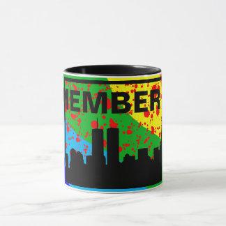 Remember 911 MUG RAINBOW & BLACK