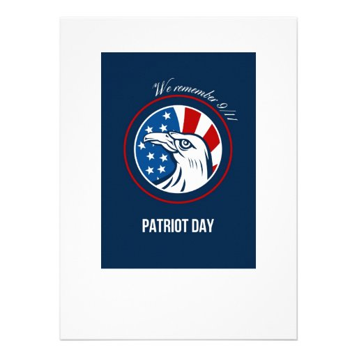 Remember 911 Patriots Day Poster Personalised Announcement