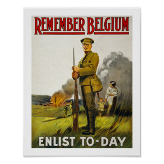 Remember Belgium (white) Poster