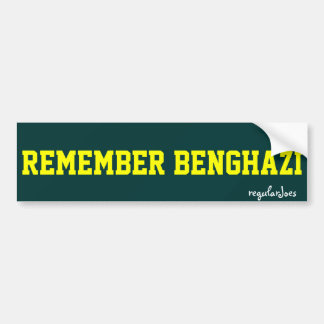 Remember Benghazi bumpersticker by regularJoes Bumper Sticker