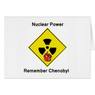 Remember Chenobyl Anti Nuclear Logo Greeting Card