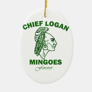 Remember Chief Logan High School Ceramic Oval Decoration