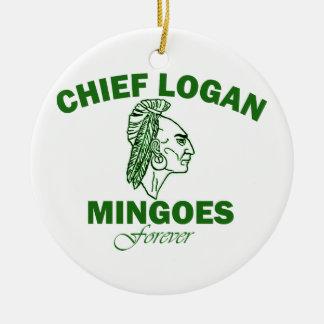 Remember Chief Logan High School Round Ceramic Decoration