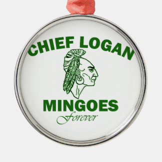 Remember Chief Logan High School Silver-Colored Round Decoration