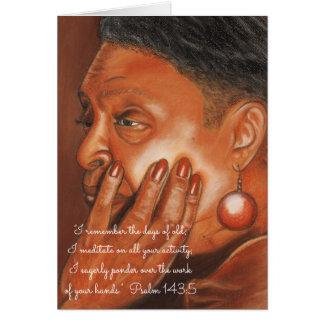 Remember Days of Old~Meditate & Ponder~Scripture Card
