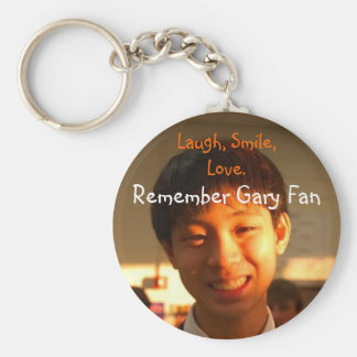 Remember Gary Fan Basic Round Button Key Ring