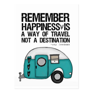 remember happiness postcard