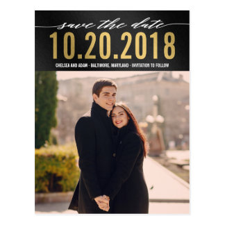 Remember It Modern Save The Date Postcard