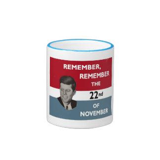 Remember John Kennedy Ringer Mug