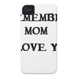remember mom i love you Case-Mate iPhone 4 case