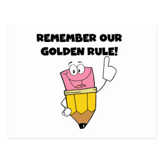 Remember Our Golden Rule Postcard