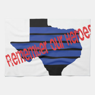 remember our heroes hand towel