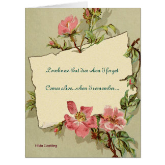 Remember Pink Roses Quote Greeting Card