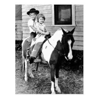 Remember Pony Ride Portraits Postcard