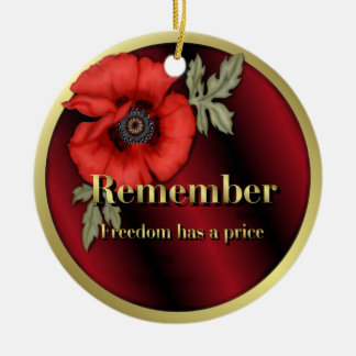 Remember Poppy Ceramic Ornament
