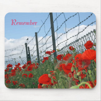 remember poppy day mouse mat
