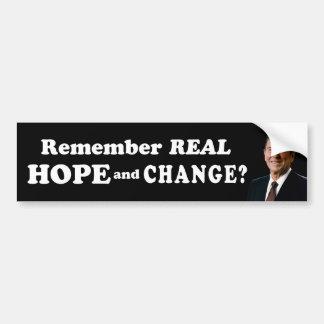 Remember Real Hope & Change? Car Bumper Sticker