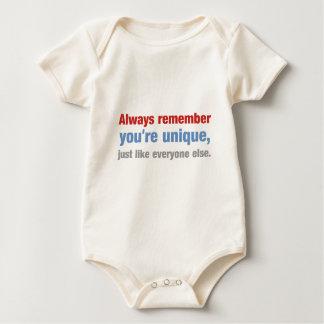 Remember that you're unique baby bodysuit
