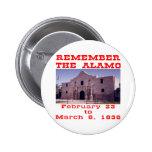 Remember The Alamo  #001 Button
