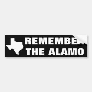 Remember the Alamo Bumper Sticker