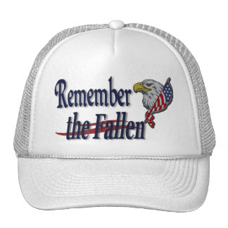 Remember the Fallen with Eagle and Flag Military Cap