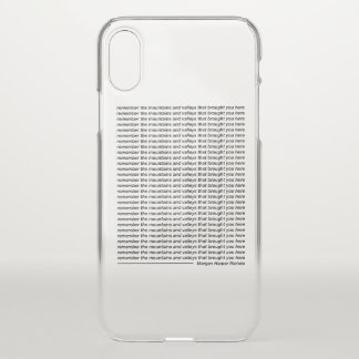 Remember the mountains and valleys iPhone x case