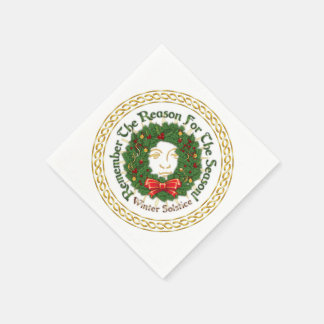 Remember The Reason Yuletide Wreath-Paper Napkins Disposable Napkin