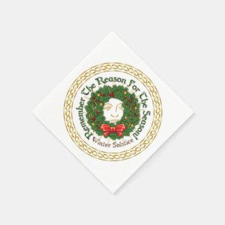 Remember The Reason Yuletide Wreath-Paper Napkins Paper Serviettes