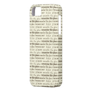 Remember This Place Statement Cover iPhone 5 Case