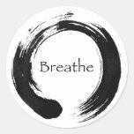 Remember to Breathe! Round Sticker