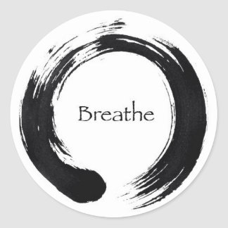 Remember to Breathe! Round Sticker