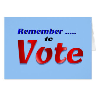 Remember to Vote Card