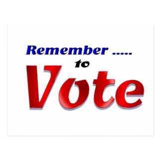 Remember to Vote Postcard