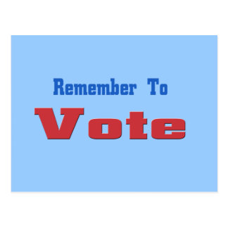 Remember to Vote Postcards