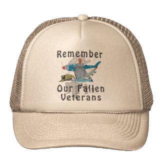 Remember Veteran s Day Hats