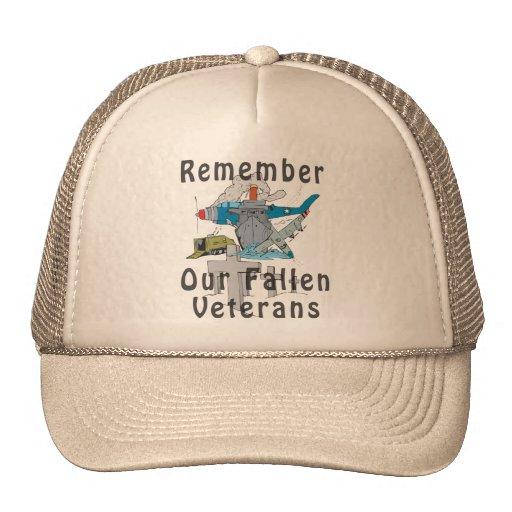 Remember Veteran's Day Hats
