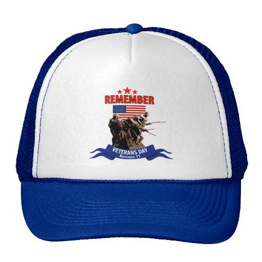 Remember Veterans Day Mesh Hat
